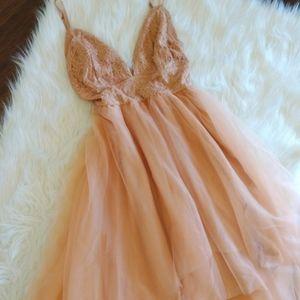 🆕ELLE- Mauve/Blush Lace Tulle Dress
